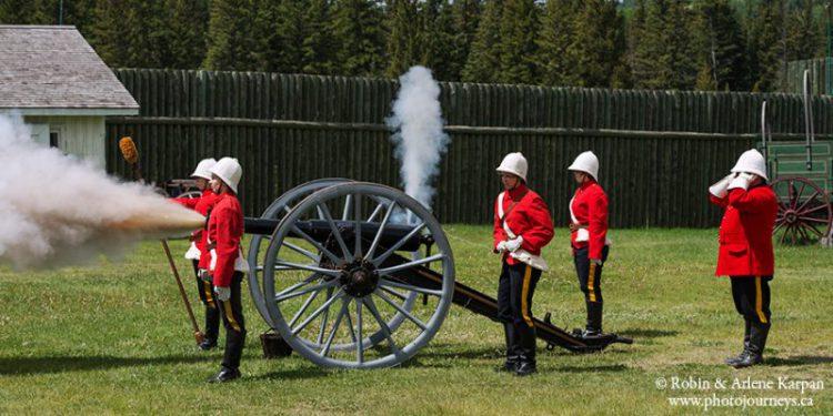 Firing gun Fort Walsh National Historic Site, Cypress Hills, Saskatchewan