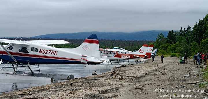 Float planes, Brooks River