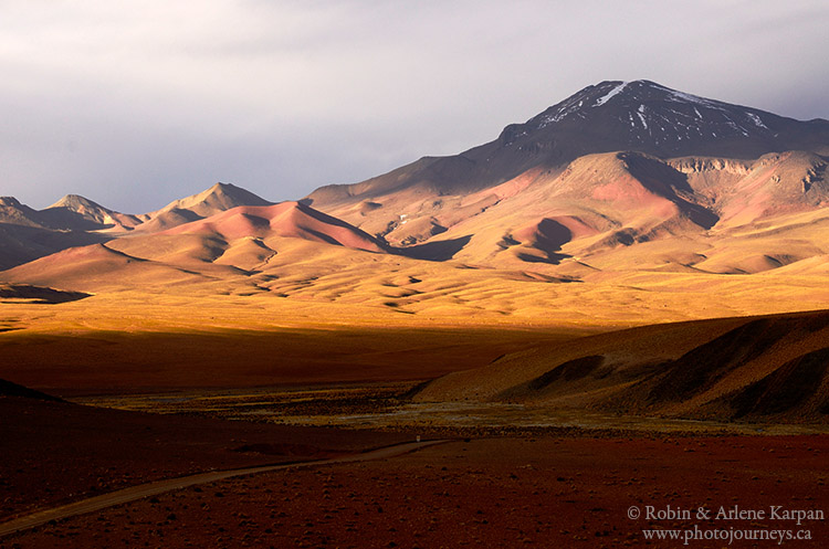 Desert trail, southern Bolivia.