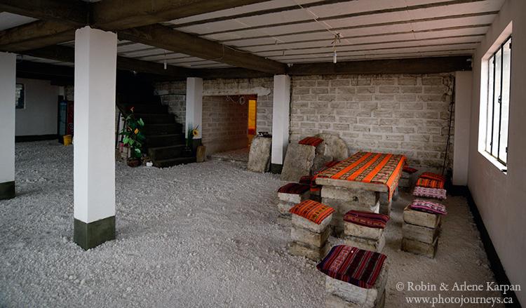 salt hotel near Uyuni, Bolivia
