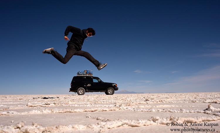 Uyuni salt lake, Bolivia