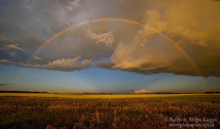 rainbow near Saskatoon