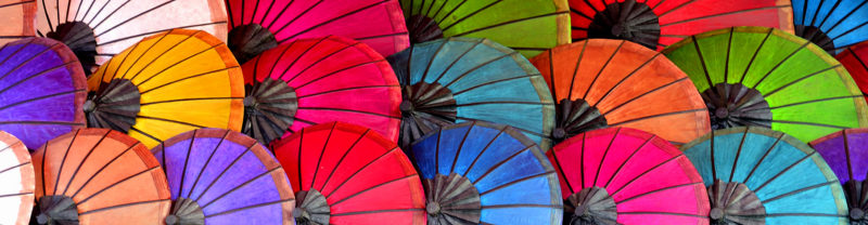 Umbrellas, Laos