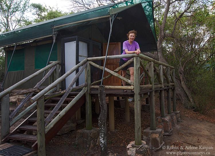 Our Safari tent, Kruger National Park