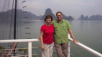 Robin and Arlene, Halong Bay