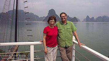 Robin and Arlene, Halong Bay