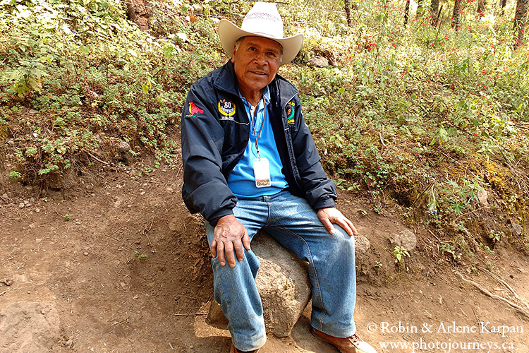 Filiberto, a guide at El Rosario, Monarch Butterfly Biosphere Reserve, Mexico.