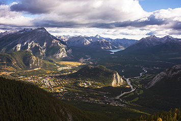 Banff Townsite from top of Banff Gondola.