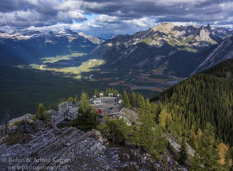 Ridge-top boardwalk and Bow Valley beyond, Banff