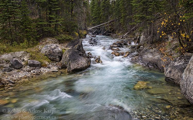 Emerald River, Yoho National Park, British Columbia.