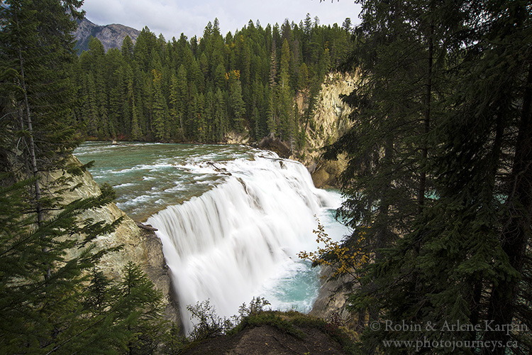 Wapta Falls, Kicking Horse River, Yoho National Park, British Columbia.
