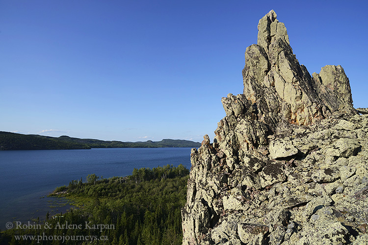 Pinnacle Rock, Lodge Bay, Lake Athabasca north shore, Saskatchewan