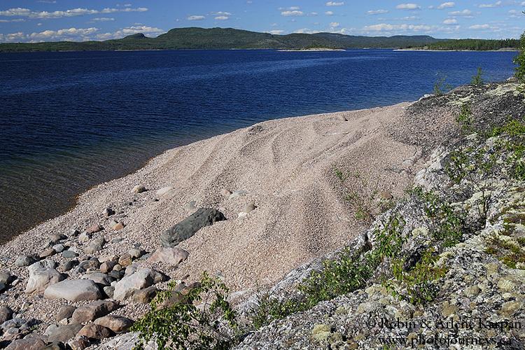 Beach ridges on Anderson Island, north shore Lake Athabasca, Saskatchewan