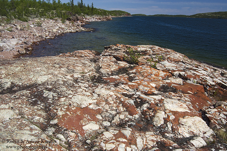 Ancient basal conglomerates, Johnston Island, Lake Athabasca, Saskatchewan