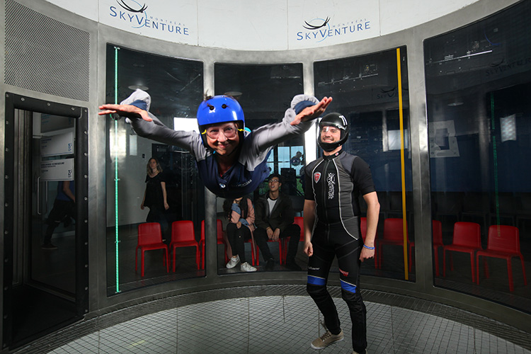 Indoor skydiving SkyVenture
