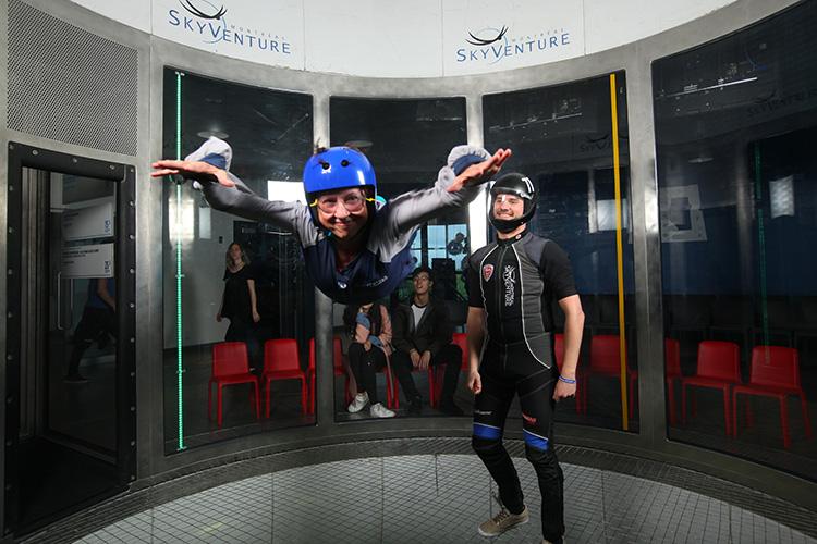 Indoor skydiving SkyVenture