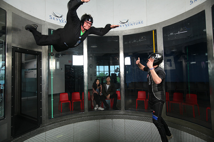 Indoor sky-diving