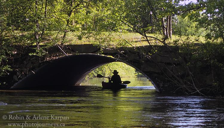 Kayaking in Parc de la Riviere-des-Milles-Iles, Laval, Quebec