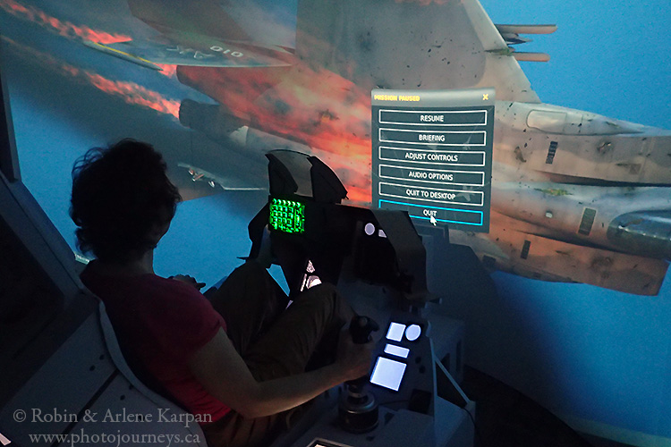 F16 simulator, Laval, Quebec