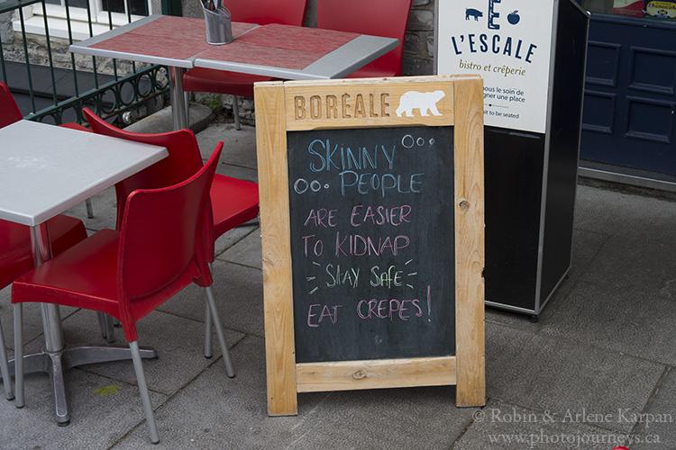 Restaurant sign, Quebec City