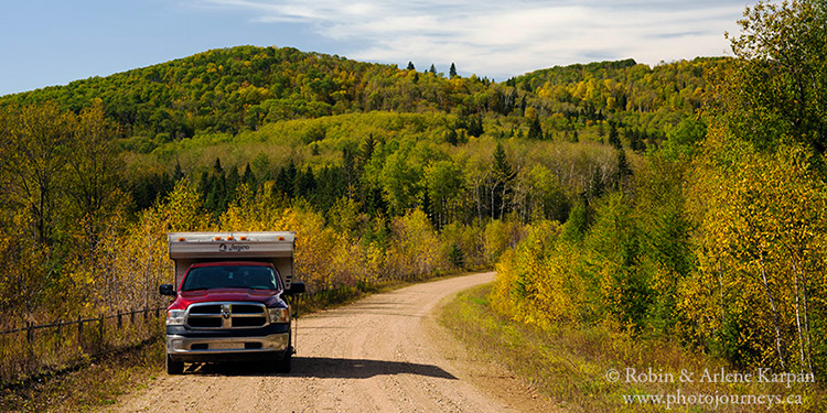 Ski hill road, Duck Mountain Provincial Park