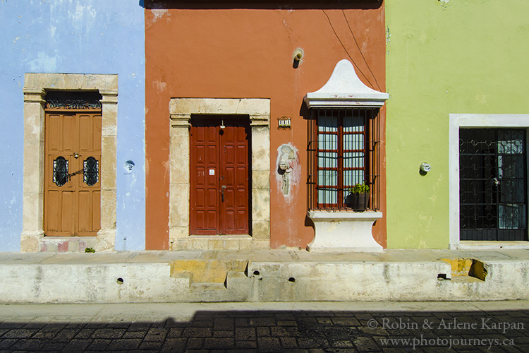 Colorful houses, Campeche