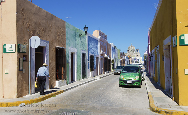 Streets in colonial Campeche