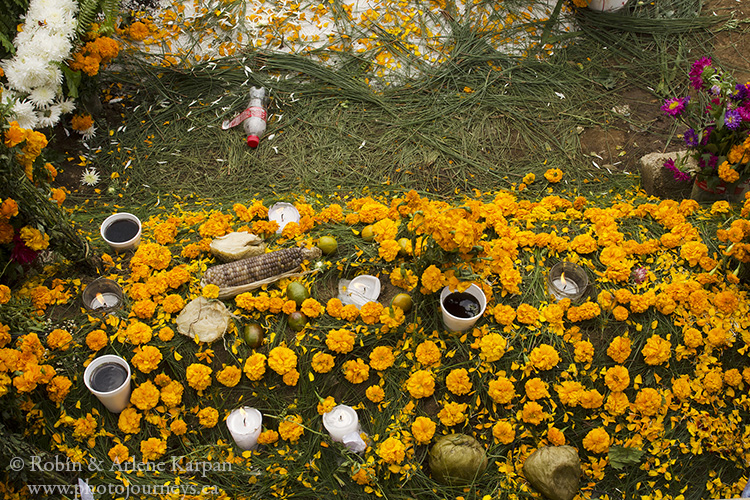 Graveside offerings, Sumpango, Guatemala