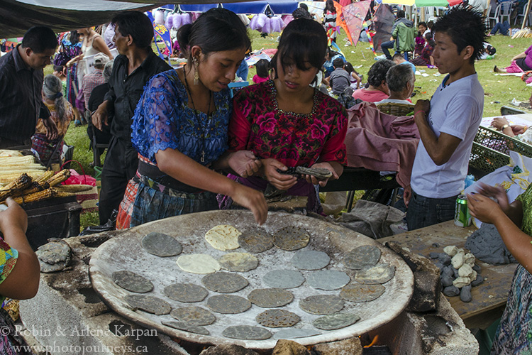 Cooking tortillas, Sumpongo, Guatemala