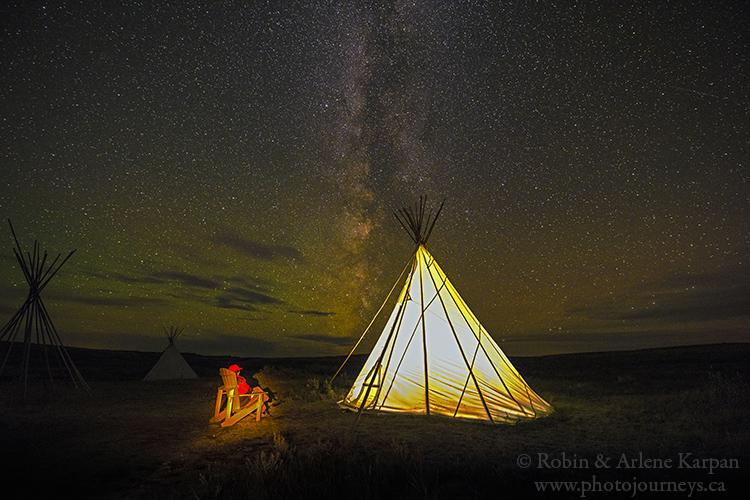 Tipi in Rock Creek Campground, East Block, Grasslands National Park