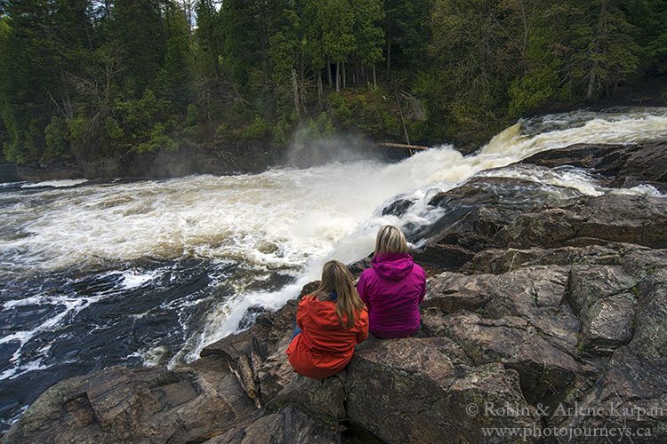 Waterfalls on the Riviere du Loup, Quebec