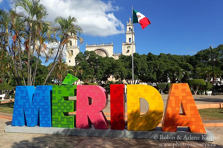 Plaza Grande in Merida, Mexico