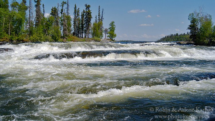 Robertson Falls, Churchill River, Saskatchewan