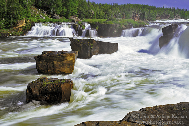 Falls on the MacFarlane River, Saskatchewan