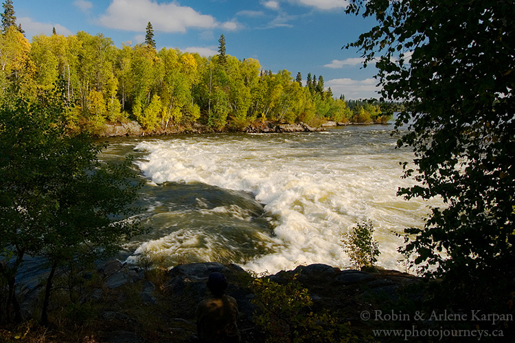 Sluice Falls, Churchill River, Saskatchewan