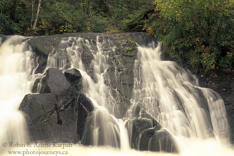 Bulyea Falls, Bulyea River, Saskatchewan