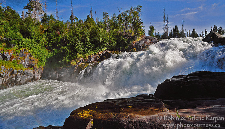 Nistowiak Falls, Rapid River, Saskatchewan