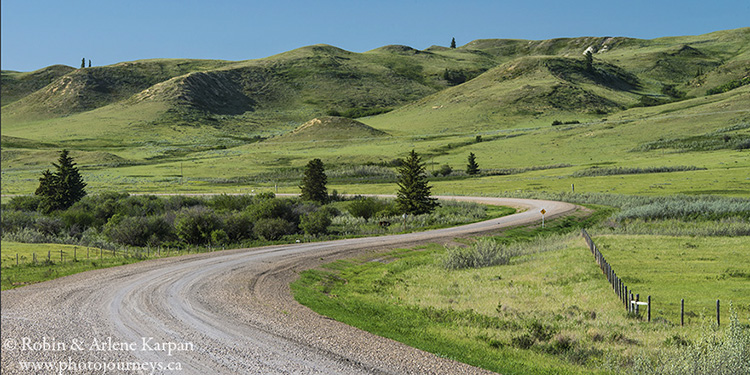 Brady Coulee Road north of Eastend, SK, Cypress Hills