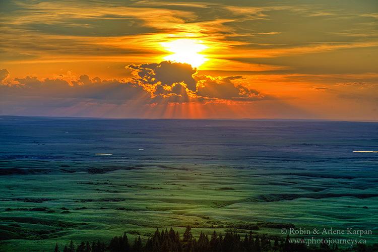 Sunset, Cypress Hills Park, SK