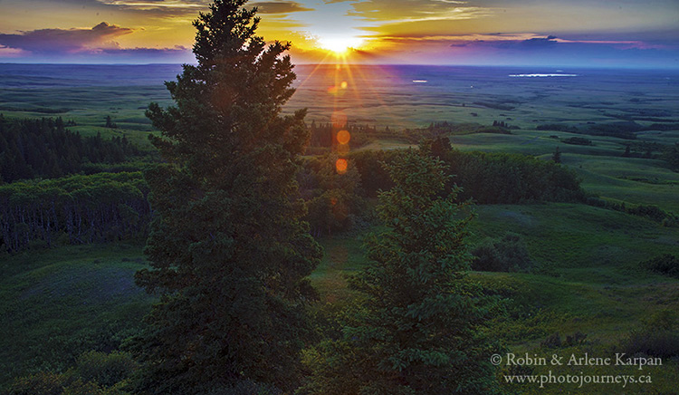 Sunset from Bald Butte, Cypress Hills, SK