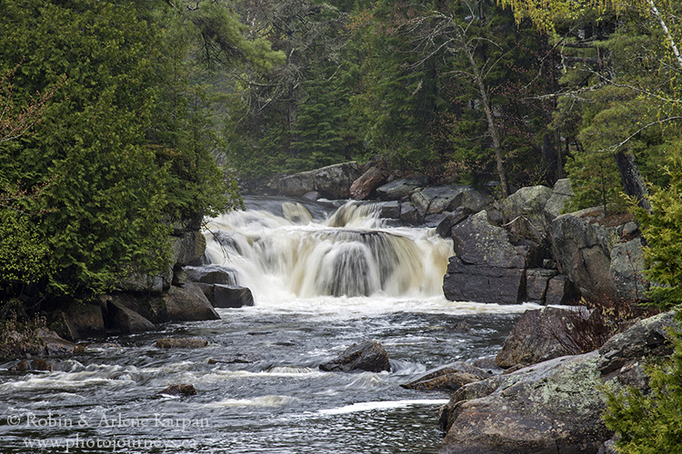 waterfall, Black River, Quebec